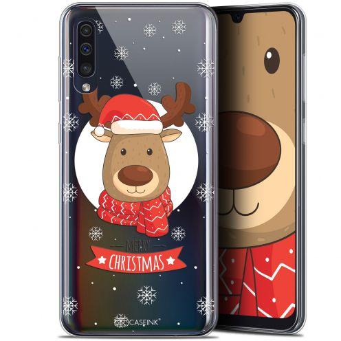 "Carcasa Gel Extra Fina Samsung Galaxy A50 (6.4"") Noël 2017 Cerf à Echarpe"