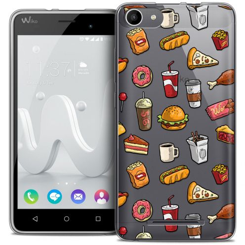 Carcasa Crystal Gel Extra Fina Wiko Jerry Foodie Fast Food