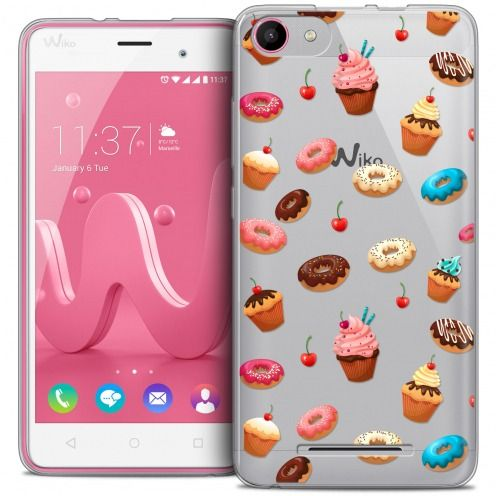 Carcasa Crystal Gel Extra Fina Wiko Jerry Foodie Donuts