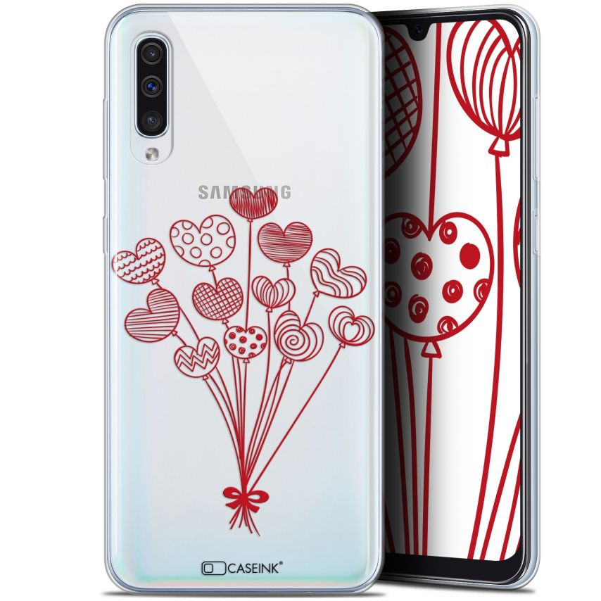 "Carcasa Gel Extra Fina Samsung Galaxy A50 (6.4"") Love Ballons d'amour"