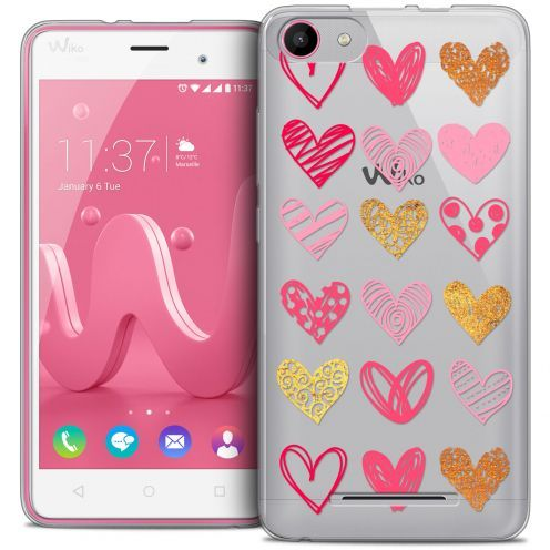 Carcasa Crystal Gel Extra Fina Wiko Jerry Sweetie Heart Flakes