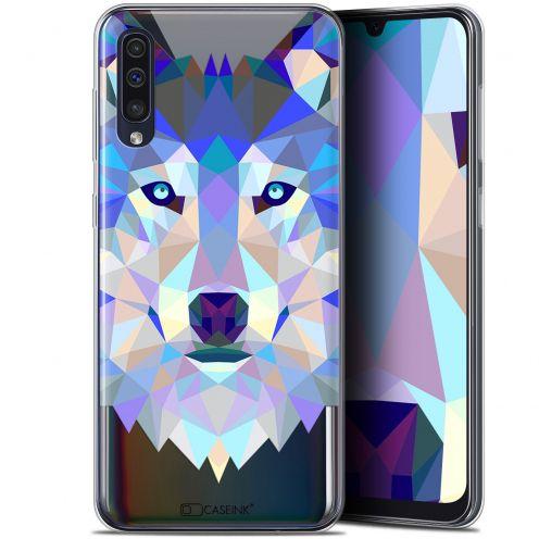 "Carcasa Gel Extra Fina Samsung Galaxy A50 (6.4"") Polygon Animals Lobo"