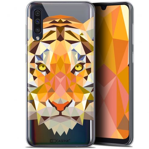 "Carcasa Gel Extra Fina Samsung Galaxy A50 (6.4"") Polygon Animals Tigre"