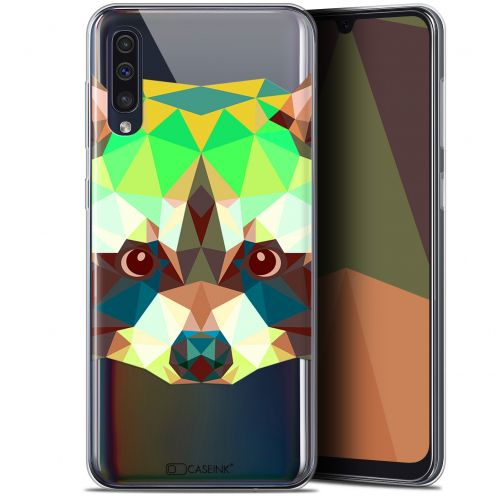 "Carcasa Gel Extra Fina Samsung Galaxy A50 (6.4"") Polygon Animals Raton Laveur"