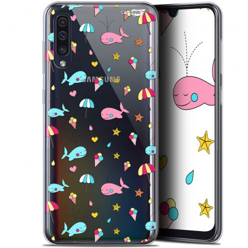 "Carcasa Gel Extra Fina Samsung Galaxy A50 (6.4"") Design Baleine à la Plage"