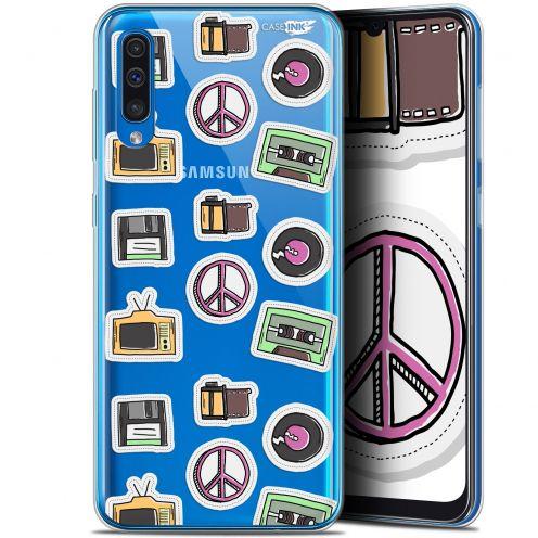"Carcasa Gel Extra Fina Samsung Galaxy A50 (6.4"") Design Vintage Stickers"