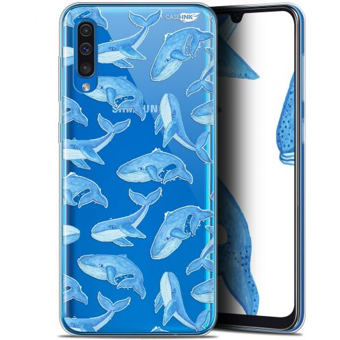 "Carcasa Gel Extra Fina Samsung Galaxy A50 (6.4"") Design Baleines"