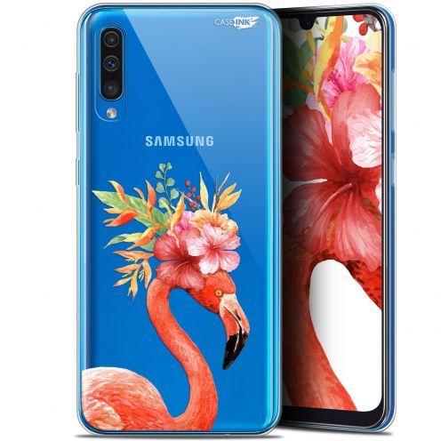 "Carcasa Gel Extra Fina Samsung Galaxy A50 (6.4"") Design Flamant Rose Fleuri"