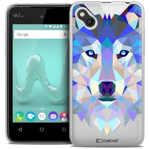 Carcasa Crystal Gel Extra Fina Wiko Sunny Polygon Animals Lobo