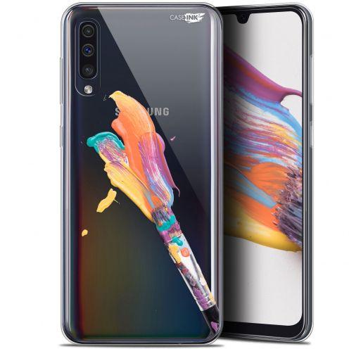 "Carcasa Gel Extra Fina Samsung Galaxy A50 (6.4"") Design Pinceau de Peinture"