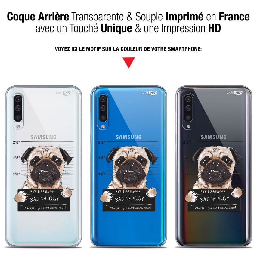 "Carcasa Gel Extra Fina Samsung Galaxy A50 (6.4"") Design Beware The Puggy Dog"