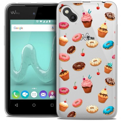 Carcasa Crystal Gel Extra Fina Wiko Sunny Foodie Donuts