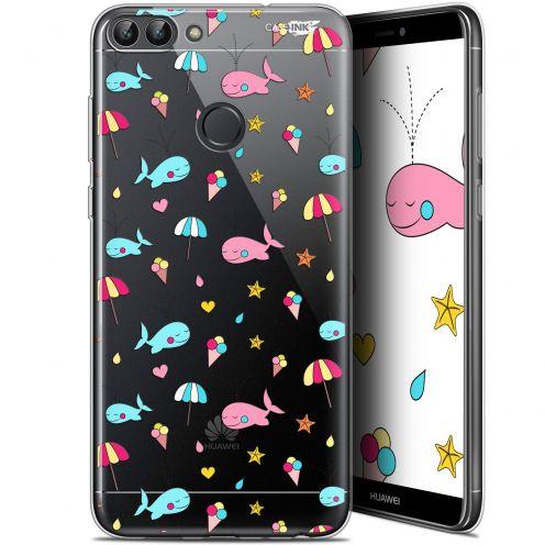 "Carcasa Gel Extra Fina Huawei P Smart (5.7"") Design Baleine à la Plage"