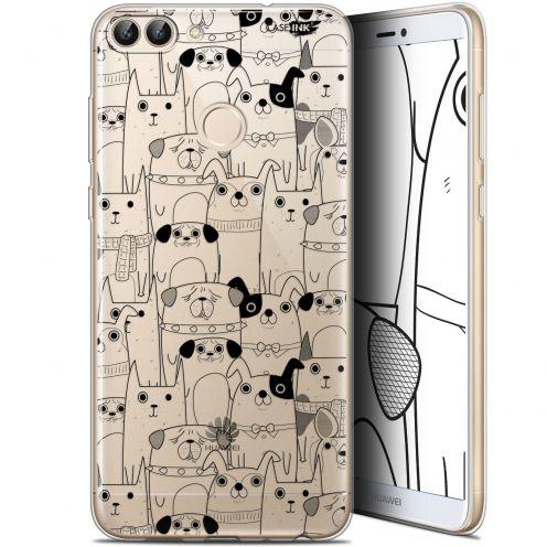 """Carcasa Gel Extra Fina Huawei P Smart (5.7"""") Design Chien Noir"""