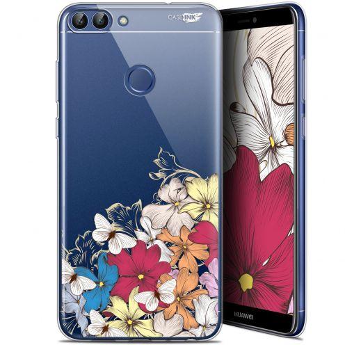 "Carcasa Gel Extra Fina Huawei P Smart (5.7"") Design Nuage Floral"
