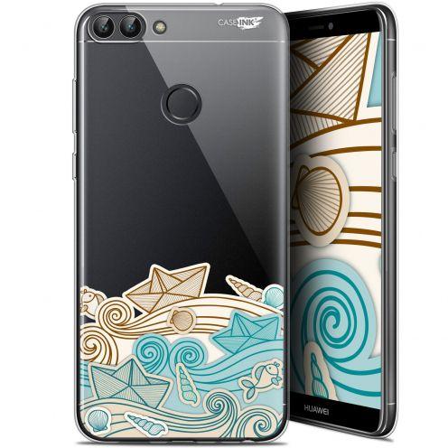"Carcasa Gel Extra Fina Huawei P Smart (5.7"") Design Bateau de Papier"