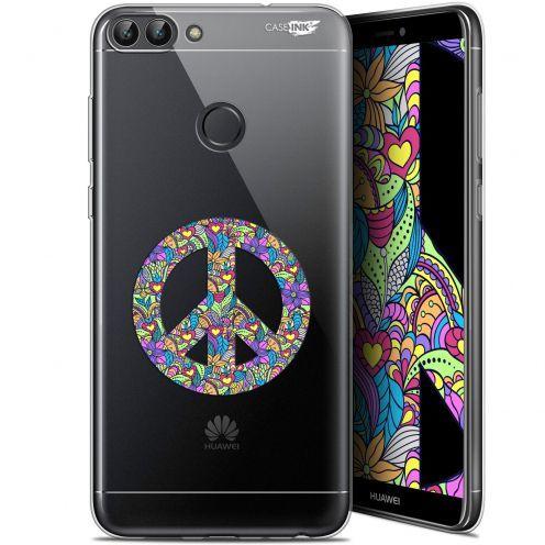 "Carcasa Gel Extra Fina Huawei P Smart (5.7"") Design Peace And Love"
