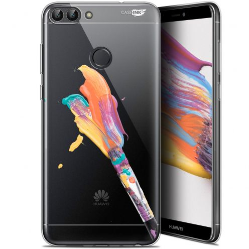 "Carcasa Gel Extra Fina Huawei P Smart (5.7"") Design Pinceau de Peinture"