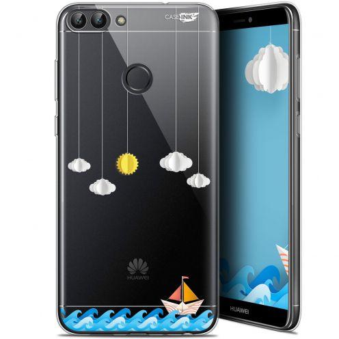 "Carcasa Gel Extra Fina Huawei P Smart (5.7"") Design Petit Bateau en Mer"