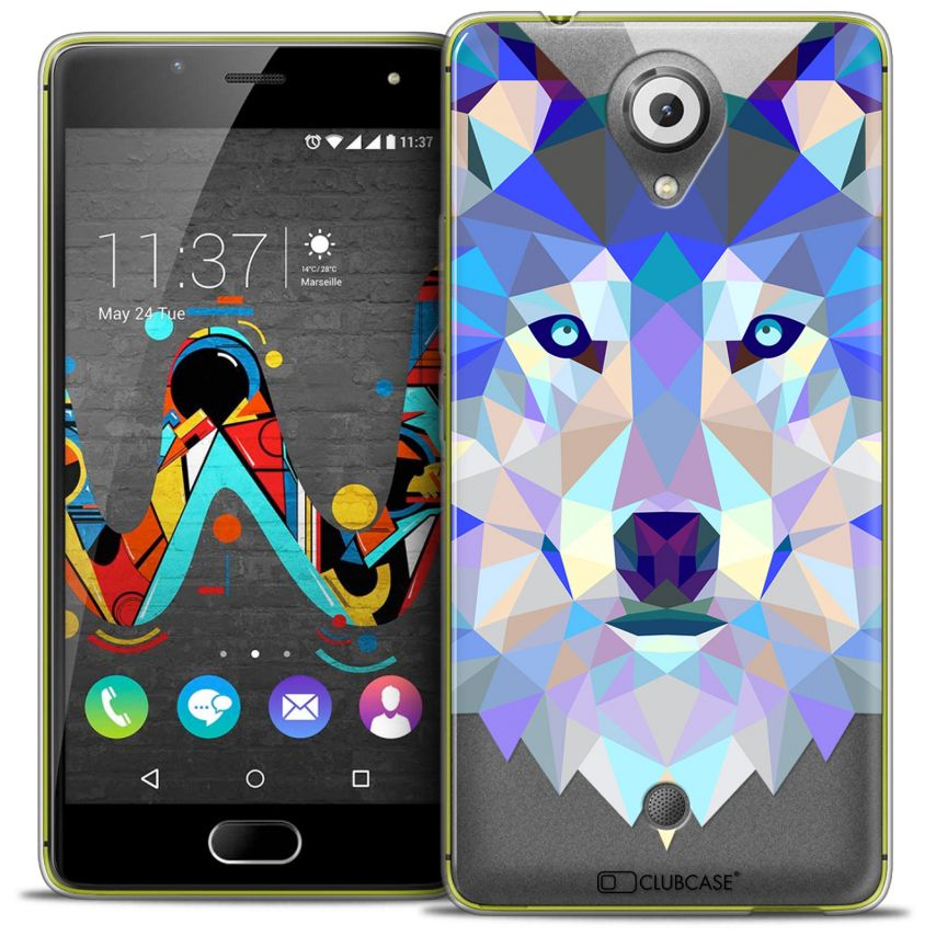 Carcasa Crystal Gel Extra Fina Wiko U Feel Polygon Animals Lobo