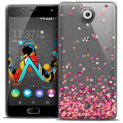 Carcasa Crystal Gel Extra Fina Wiko U Feel Sweetie Heart Flakes