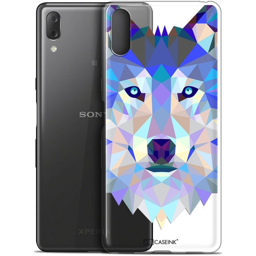 "Carcasa Gel Extra Fina Sony Xperia L3 (5.7"") Polygon Animals Lobo"
