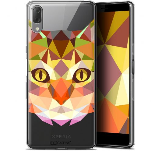 "Carcasa Gel Extra Fina Sony Xperia L3 (5.7"") Polygon Animals Gato"