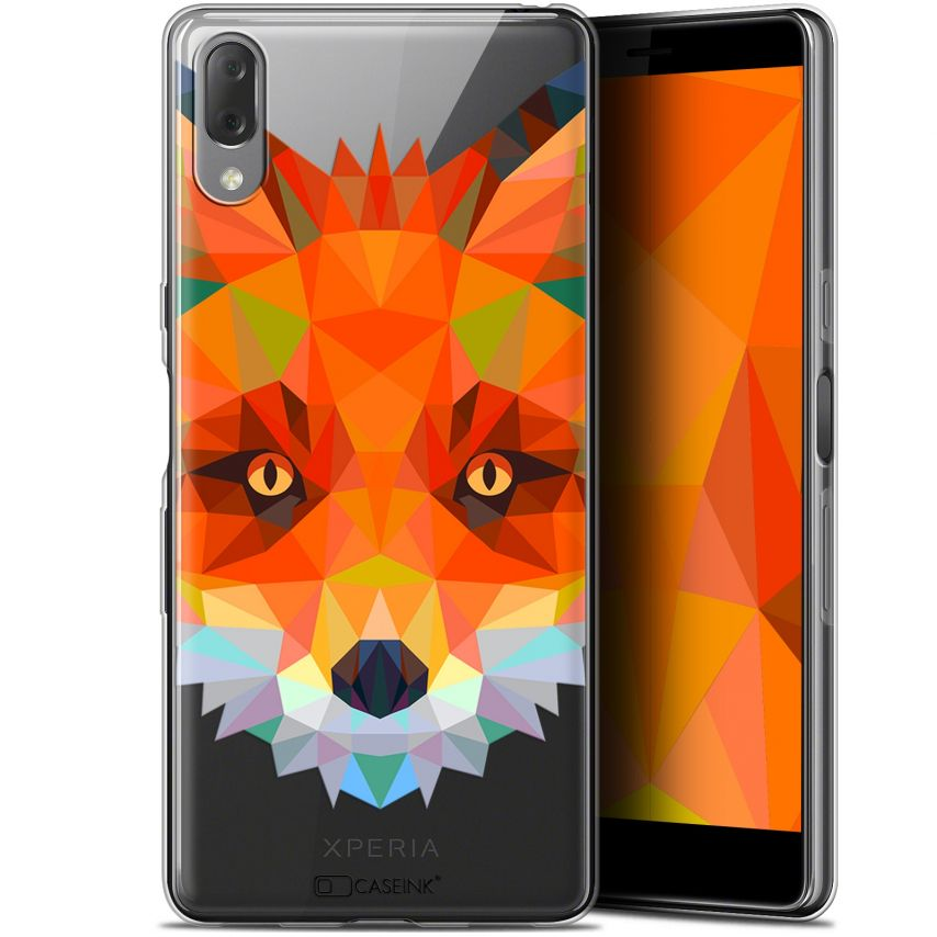 "Carcasa Gel Extra Fina Sony Xperia L3 (5.7"") Polygon Animals Zorro"