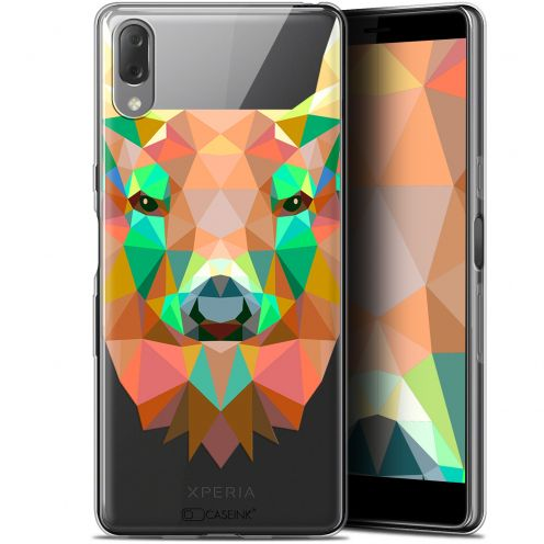 "Carcasa Gel Extra Fina Sony Xperia L3 (5.7"") Polygon Animals Ciervo"