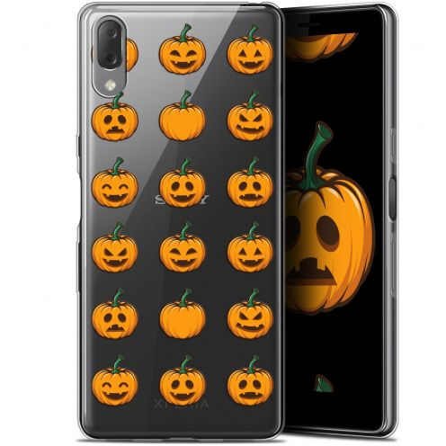 "Carcasa Gel Extra Fina Sony Xperia L3 (5.7"") Halloween Smiley Citrouille"