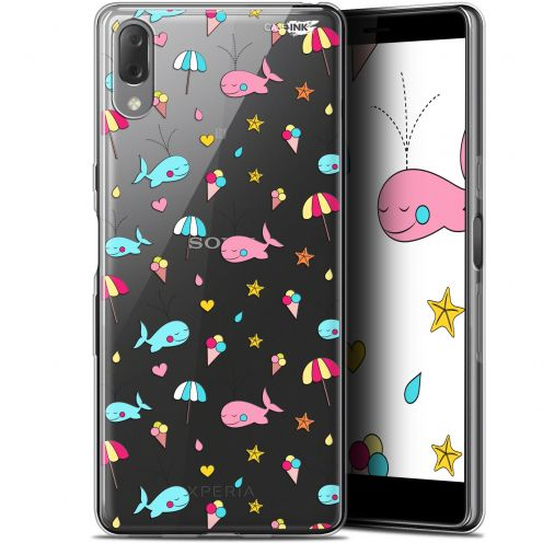 "Carcasa Gel Extra Fina Sony Xperia L3 (5.7"") Design Baleine à la Plage"