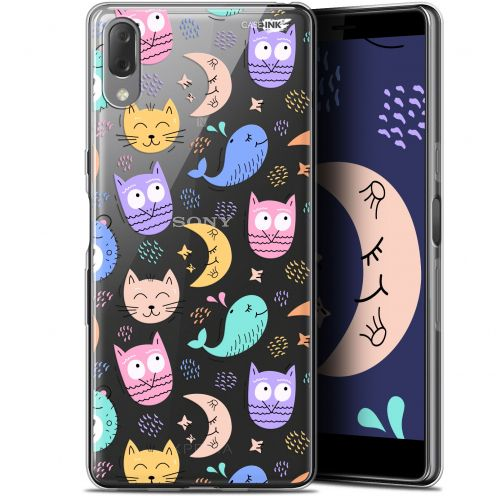 "Carcasa Gel Extra Fina Sony Xperia L3 (5.7"") Design Chat Hibou"