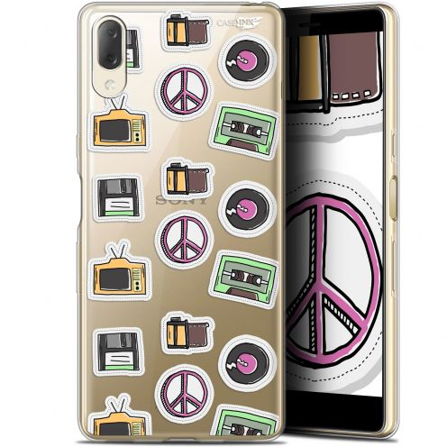 "Carcasa Gel Extra Fina Sony Xperia L3 (5.7"") Design Vintage Stickers"