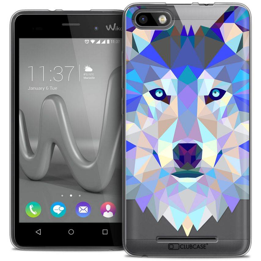 Carcasa Crystal Gel Extra Fina Wiko Lenny 3 Polygon Animals Lobo