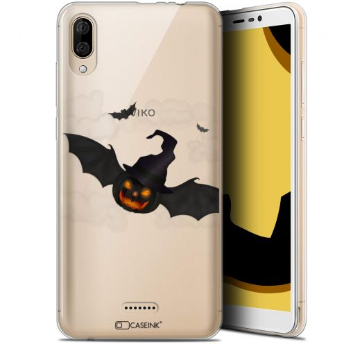"Carcasa Gel Extra Fina Wiko Y80 (6"") Halloween Chauve Citrouille"