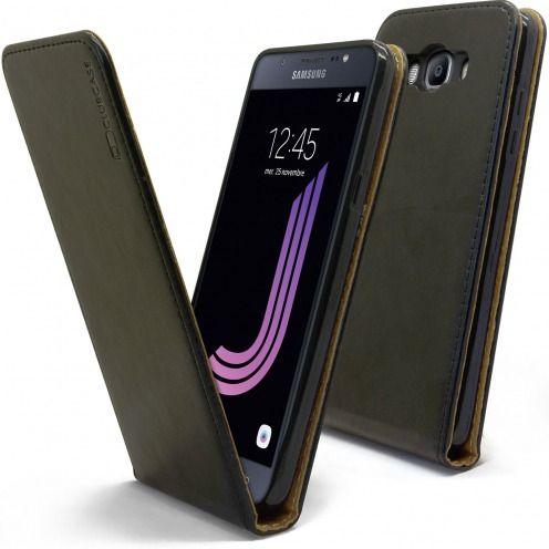 Funda Italia Flippara Samsung Galaxy J7 2016 (J710) Cuero AuténticoNegro