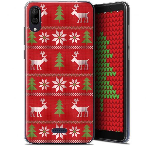 "Carcasa Gel Extra Fina Wiko Y80 (6"") Noël 2017 Couture Rouge"