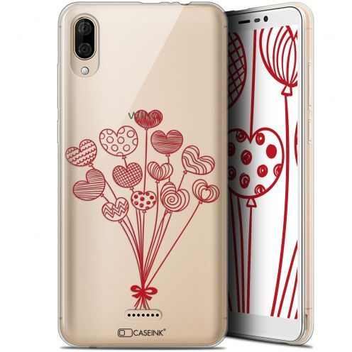 "Carcasa Gel Extra Fina Wiko Y80 (6"") Love Ballons d'amour"