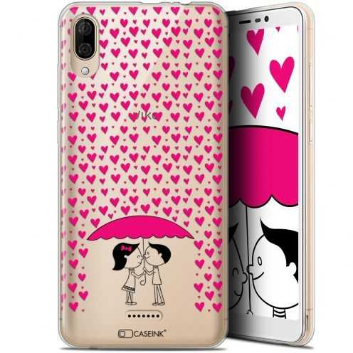 "Carcasa Gel Extra Fina Wiko Y80 (6"") Love Pluie d'Amour"