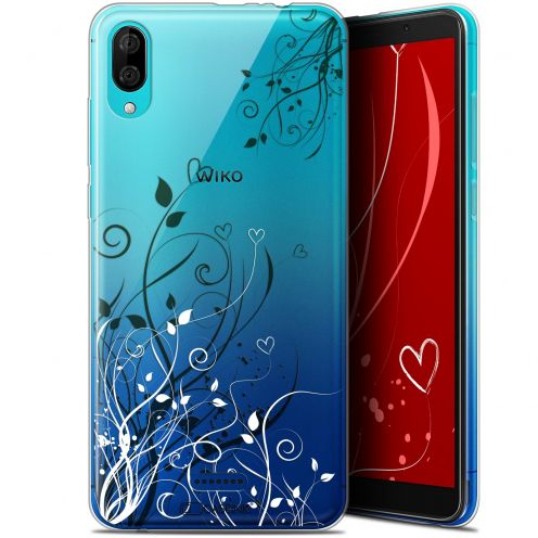 "Carcasa Gel Extra Fina Wiko Y80 (6"") Love Hearts Flowers"