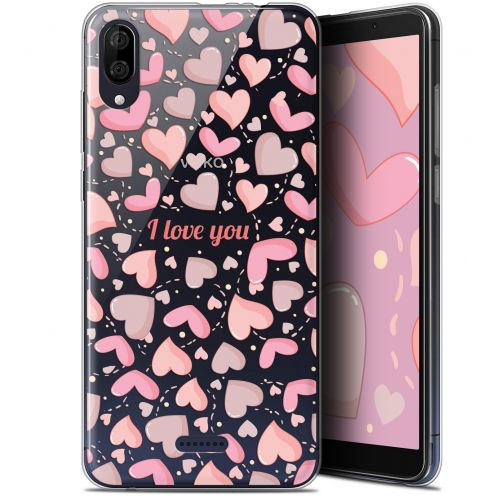 "Carcasa Gel Extra Fina Wiko Y80 (6"") Love I Love You"