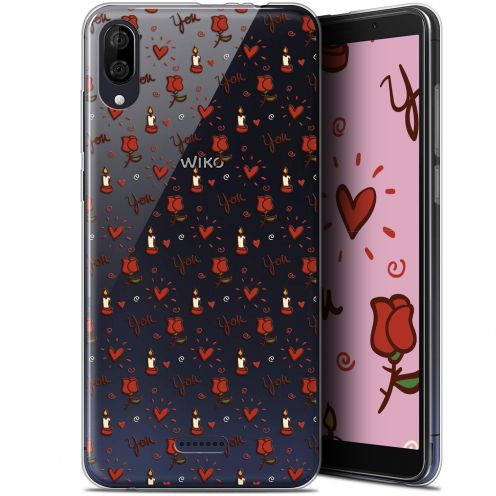 "Carcasa Gel Extra Fina Wiko Y80 (6"") Love Bougies et Roses"