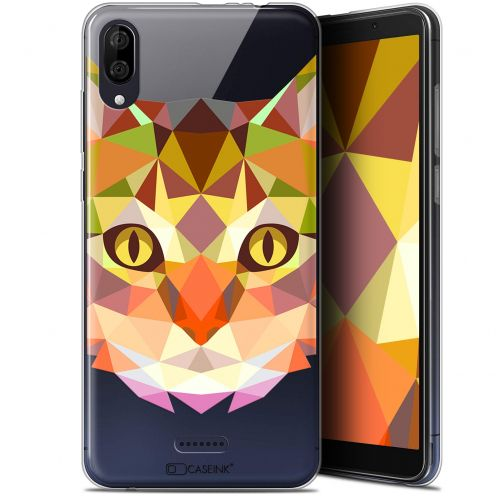 "Carcasa Gel Extra Fina Wiko Y80 (6"") Polygon Animals Gato"