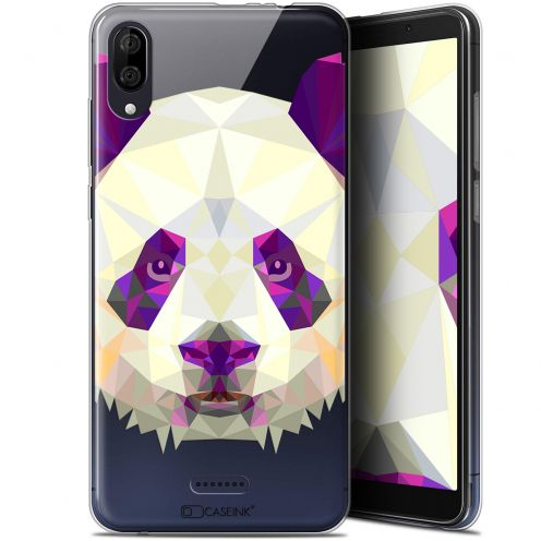 "Carcasa Gel Extra Fina Wiko Y80 (6"") Polygon Animals Panda"