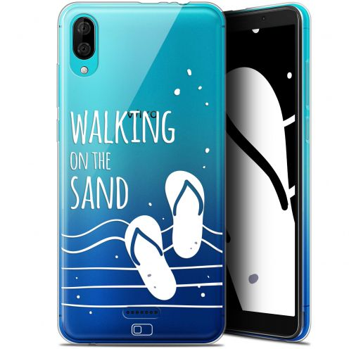 "Carcasa Gel Extra Fina Wiko Y80 (6"") Summer Walking on the Sand"