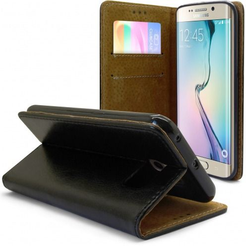 Funda Italia Foliopara Samsung Galaxy S6 Edge Cuero AuténticoNegro