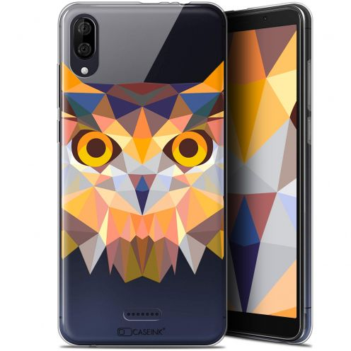 "Carcasa Gel Extra Fina Wiko Y80 (6"") Polygon Animals Búho"