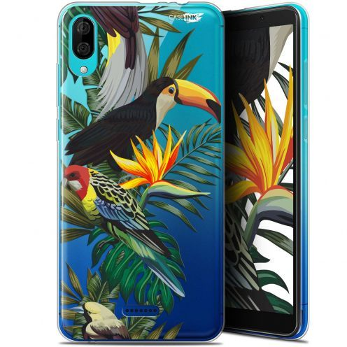 "Carcasa Gel Extra Fina Wiko Y80 (6"") Design Toucan Tropical"