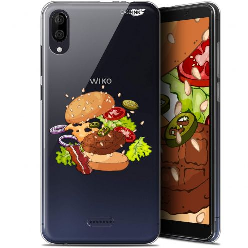 "Carcasa Gel Extra Fina Wiko Y80 (6"") Design Splash Burger"