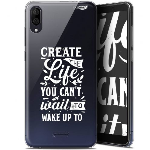 "Carcasa Gel Extra Fina Wiko Y80 (6"") Design Wake Up Your Life"